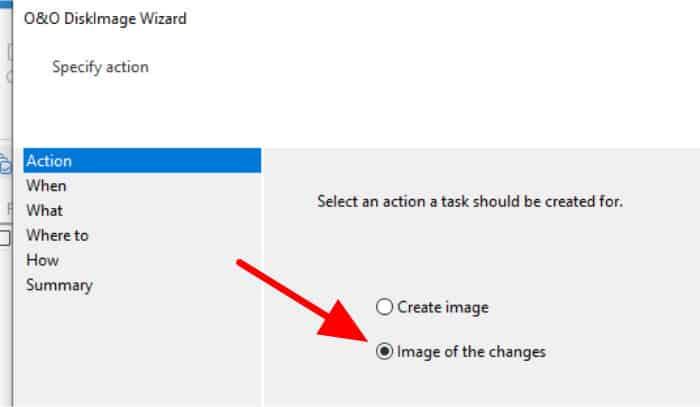 diskimage 16 incremental option