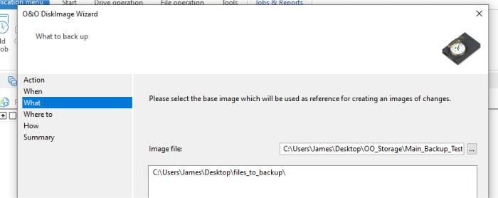 diskimage 16 choose base backup file