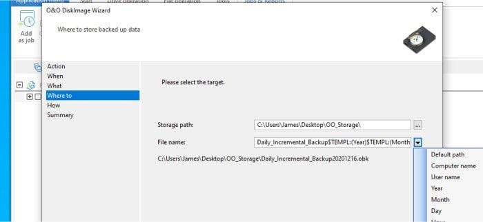 diskimage 16 save incremental file
