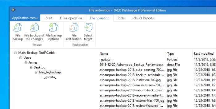 diskimage file restoration choose files