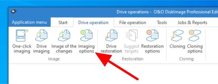 diskimage imaging options