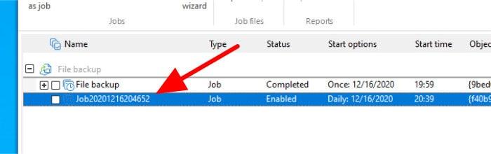 diskimage 16 new incremental job
