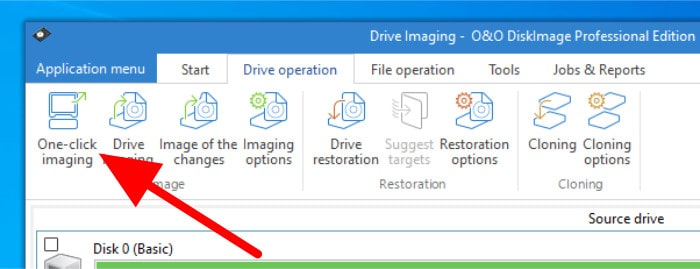diskimage 16 one click imaging button