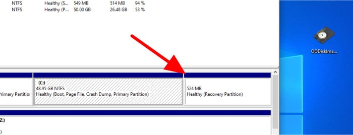o&o diskimage 16 recovery partition