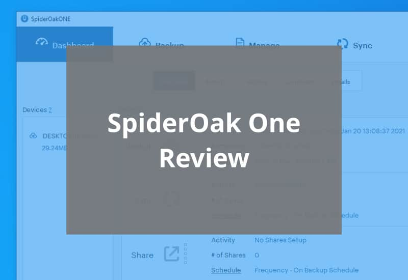 spideroak one review featured image