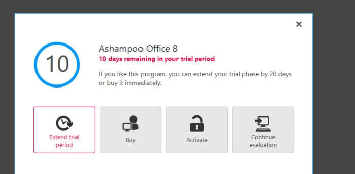 ashampoo office 8 registration page