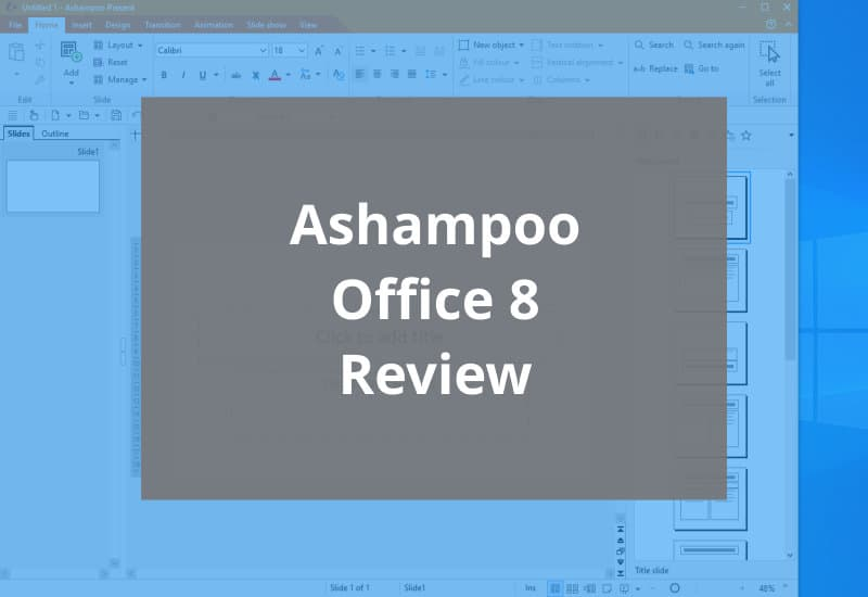 ashampoo office 8 review - featured image