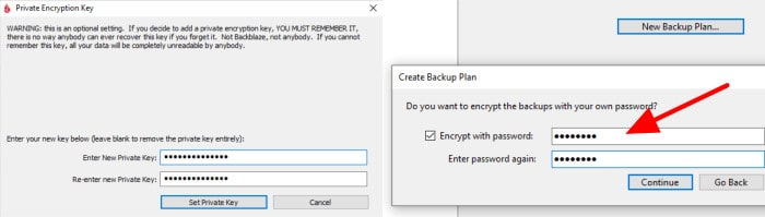 backblaze vs arq premium encryption being applied