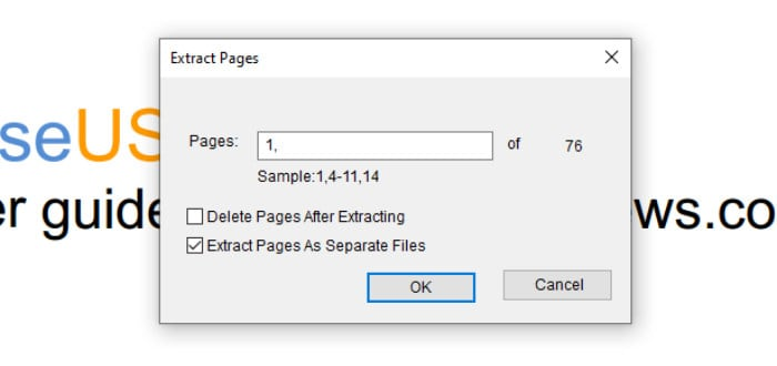 pdf editor - extract pdf pages