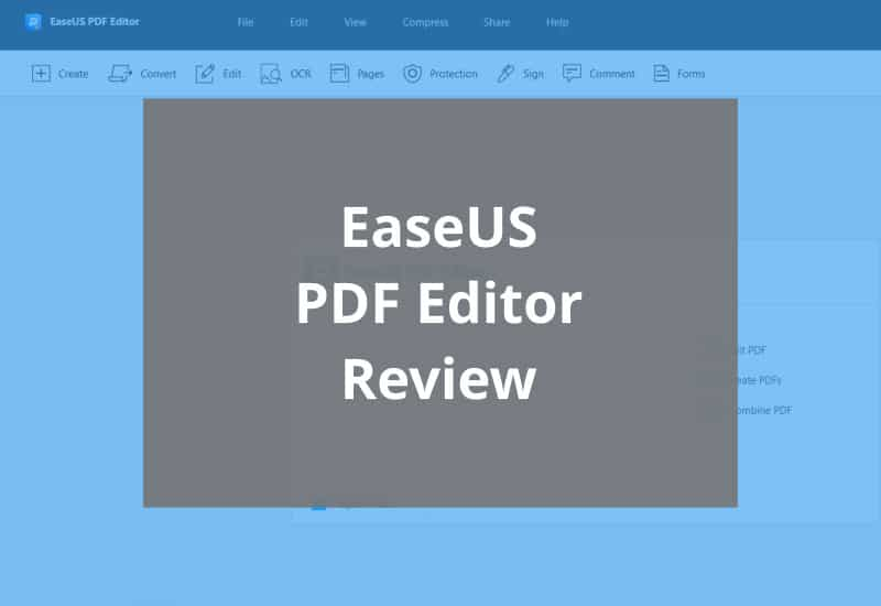 easeus pdf editor review featured image
