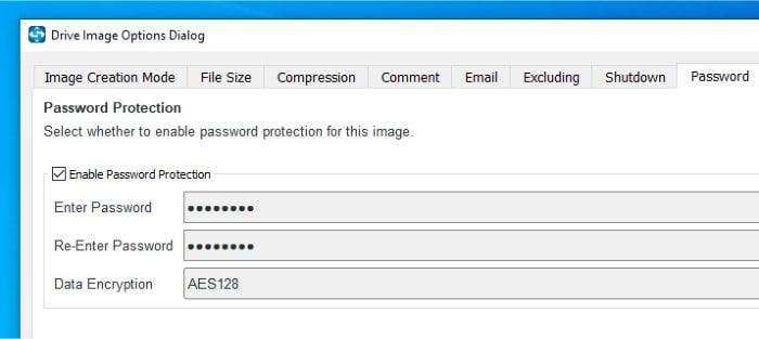 shadowmaker pro encryption options