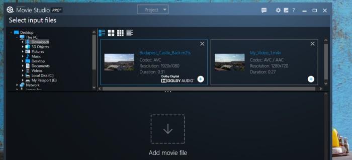 movie studio pro 3 - convert video format tool