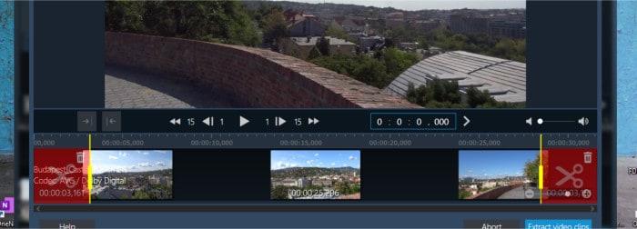 movie studio pro 3 - cut clips tool