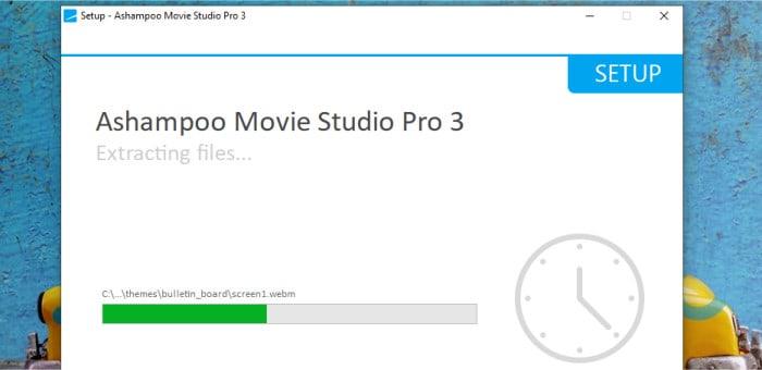 movie studio pro 3 installer running