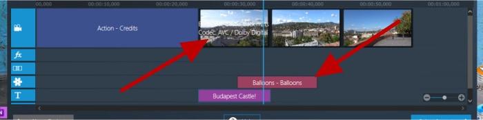movie studio pro 3 - text effects editing tracks