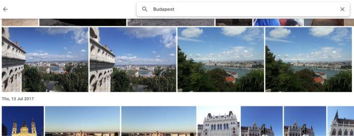 google drive - cloud photos gallery view
