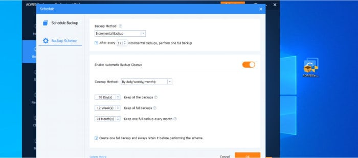 backupper backup scheme options