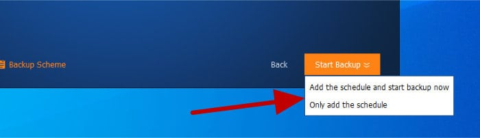 backupper - run backup now or schedule