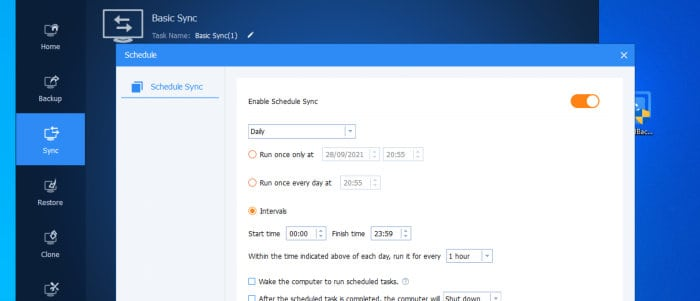 backupper sync scheduling tool