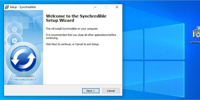 synchredible installer running
