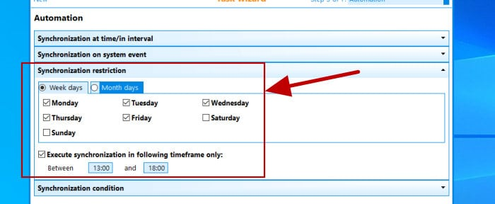 synchredible scheduling restrictions