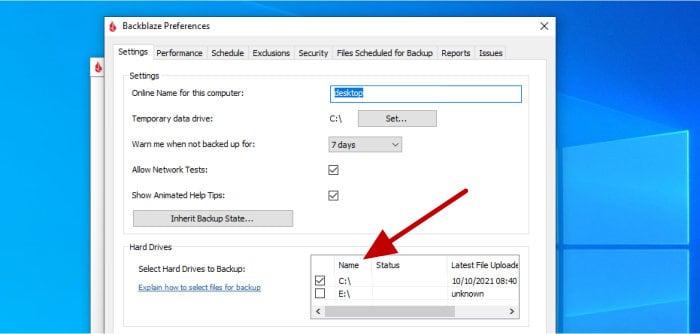 add external hard drive to backblaze