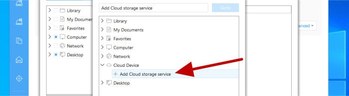 todo backup - add new cloud service